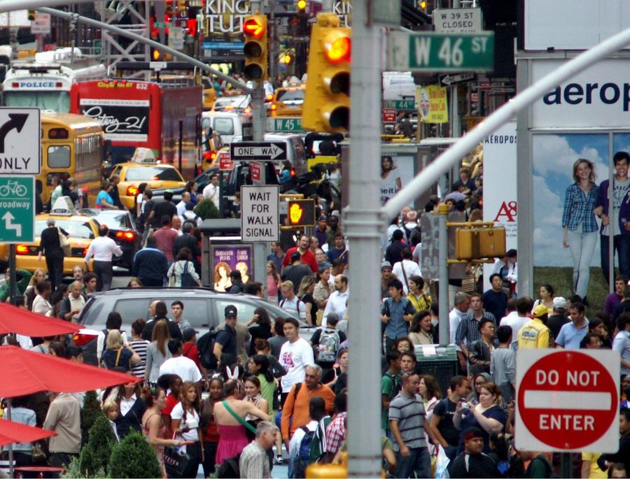 People in NYC A Lot Of People Bus Colour Red Confusion Day New York City Outdoors People Red Time Square, New York
