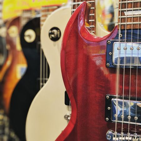 Arts Culture And Entertainment Musical Instrument Music Electric Guitar No People Guitar Day Close-up Outdoors Tokyo Japan Japan Photography Tokyo Street Photography Travel Destinations EyEmNewHere EyeEmNewHere