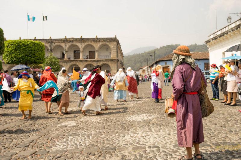 People Performing On Street During Semana Santa