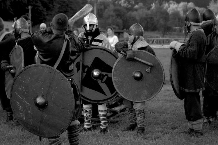 I have to be a warrior, a slave I could not be. Karpackie Klimat Warrior B&w Blackandwhite Conqueror Festival Horn Medieval Men People Shield Slavic Uniform