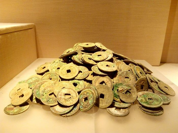 todays in Guangdong Museum:)Money Coppercash History Museum  Treasure Coins Copper  Qing Dynasty Hundredyears Old Shot