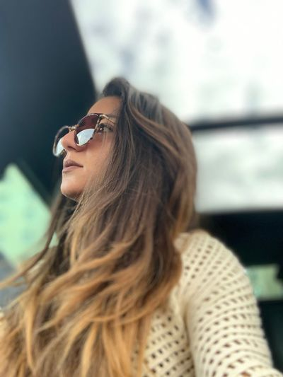 #selfportrait One Person Hairstyle Long Hair Hair Lifestyles Focus On Foreground Real People Portrait Young Women Headshot Glasses Sunglasses Women Contemplation