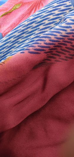 Backgrounds Red Full Frame Textured  Multi Colored Textile Pattern Crumpled Close-up