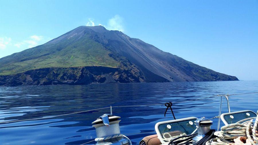 Volcano Stromboli Stromboli Volcano Eolian Islands Sicily Southitaly Friendship Magic Moments Sailboat Sailing Lasttrip