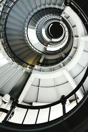 Architecture Staircase Spiral Steps And Staircases High Angle View Spiral Staircase Railing Light And Shadow Close-up Alone From My Point Of View Lighthouse The Architect - 2017 EyeEm Awards
