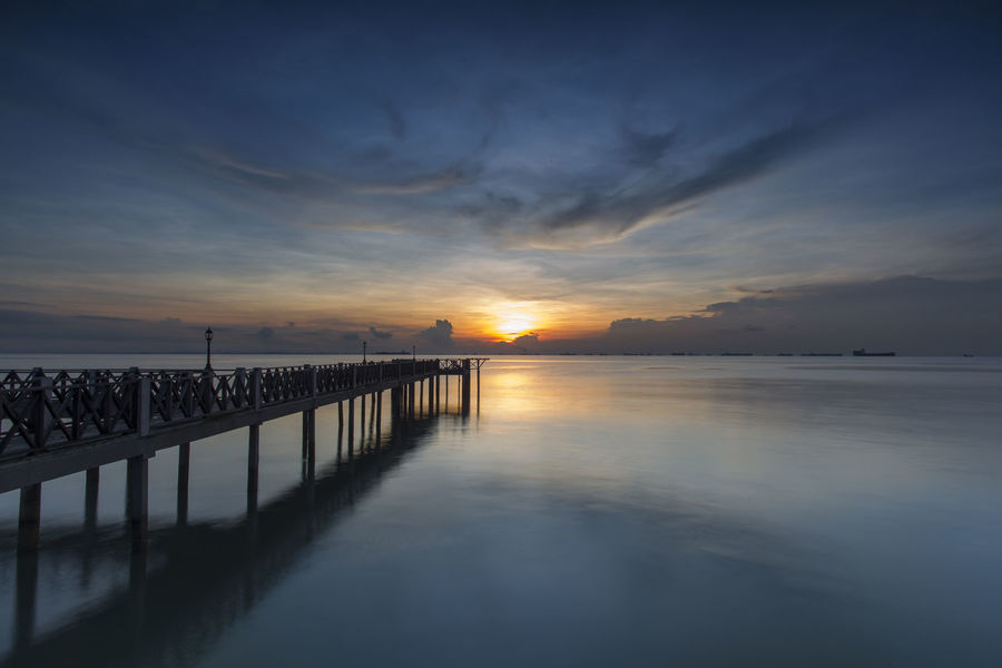 A dramatic sunrise at Tanjong Piai Resort, Johor Bharu. Sunrise_Collection Tanjong Piai Beauty In Nature Horizon Over Water Nature No People Outdoors Scenics Sea Sky Tranquil Scene Tranquility Water