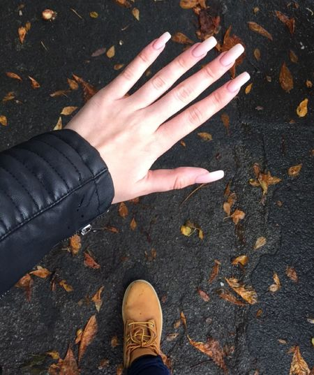 22.09.15 First Eyeem Photo Nails Autumn Leaves Leatherjacket