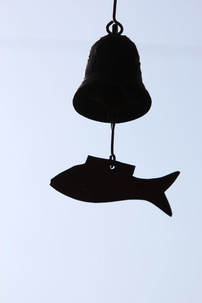 Wind-bell Fish In Sky Bell Hanging Silhouette No People Day
