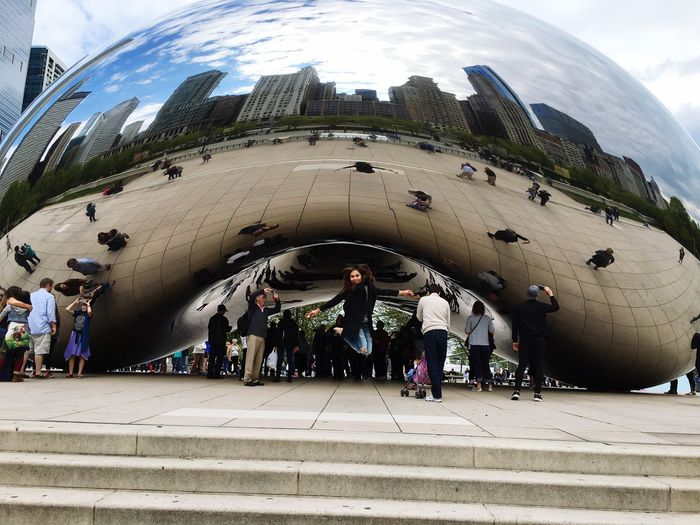Been there! Done that! Chicago Architecture Chicago Illinois Across The Universe Happiness Backpacker Travel USAtrip Millennium Park