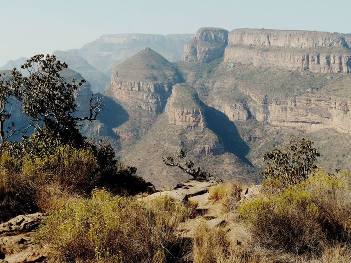 Blyde River Canyon Epic Roadtrips Südafrika Great River Canyons Of The World Safari Roadtrip From Johannesburg Mpumalanga The Rondavels Südafrika South Africa Blyde River Canyon Canyon Mountain Nature Rock - Object Day Beauty In Nature No People Scenics