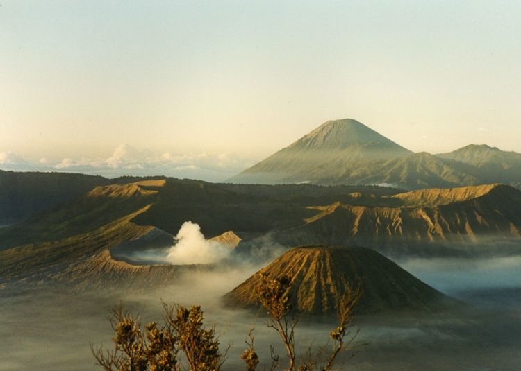 Scenic View Of Volcanic Mt Bromo Against Sky