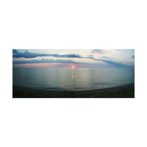 Morning Dawn Sun Sea And Sky Landscape Marche Serenity Nature