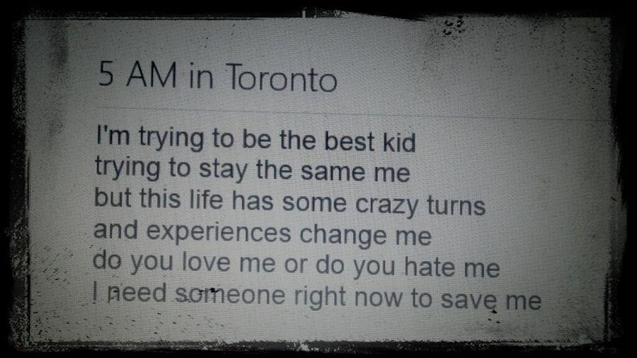5am in Toronto beat goes hard ^.^