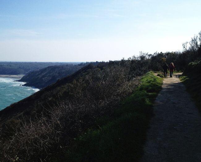 Landscape Seaside Path Bretagne
