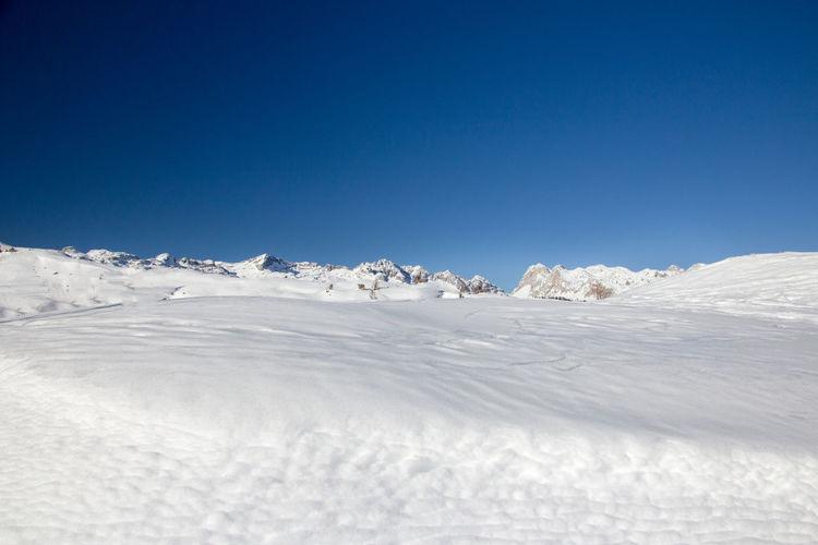 Snow field in