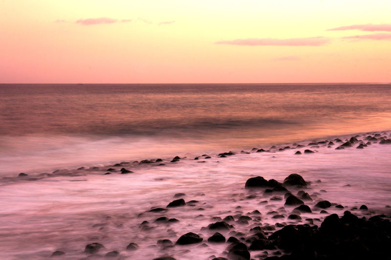 Silk effect in the sea Tenerife España Beach Beauty In Nature Blurred Motion Day Horizon Over Water Idyllic Nature No People Ocean Outdoors Scenics Sea Sea And Sky Silhouette Silk Effect Sky Summer Sunset Tenerife Tranquil Scene Tranquility Water Wave Winter Wonderland Colour Your Horizn