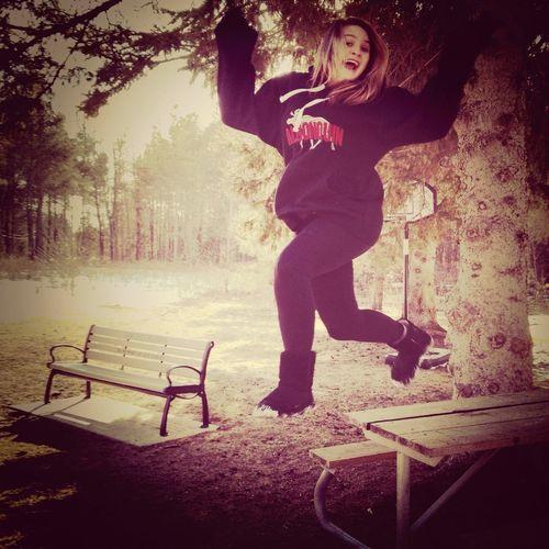 Selfie Jumping Being Weird