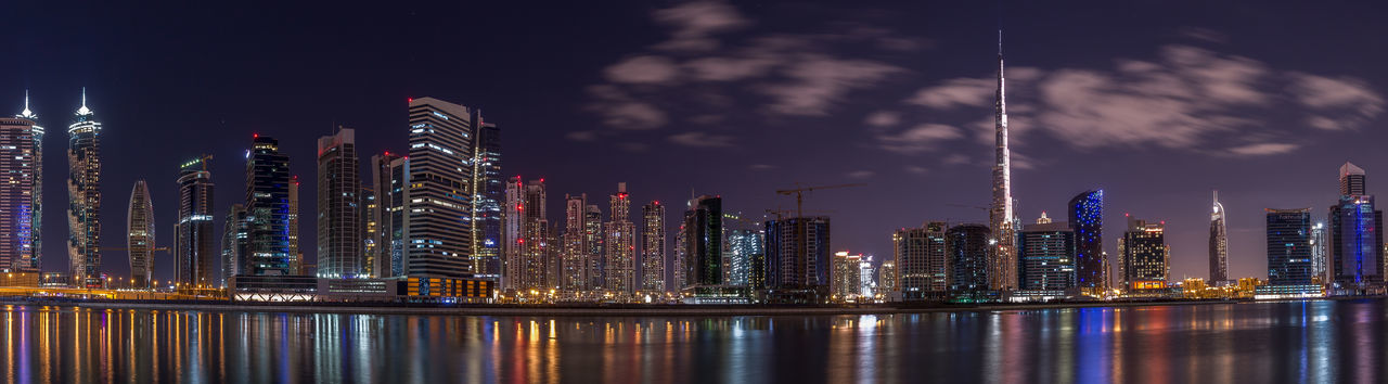 Down town of Dubai city Citescape Cityscapes Dubai Lights Night Nightphotography Panorama UAE