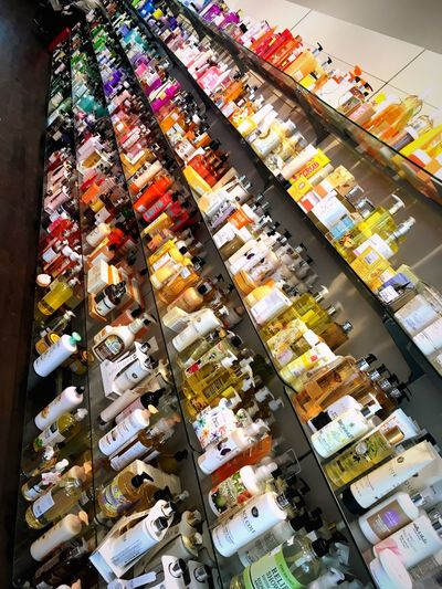Retail  Store Shelf Large Group Of Objects For Sale Variation Choice Indoors  Consumerism No People Day Perfume Counter Supermarket Cosmetics Design Colors Colorful Shopping Mall Shopping TKMaxx Vienna Shop Farbenfroh