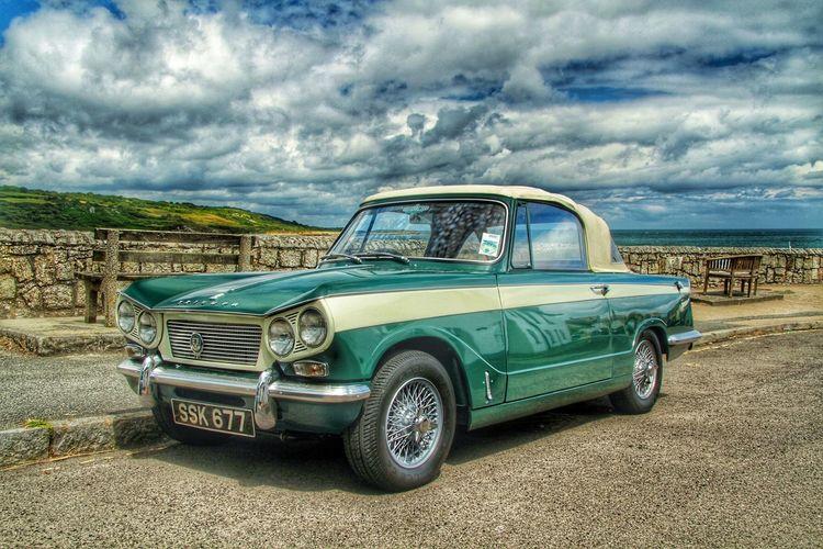 A Triumph Vitesse . Car Cars Vintage Cars Classic Cars Green Things That Are Green Green Green Green!  British