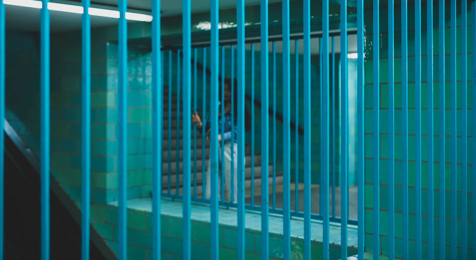 Corrugated Prison Bars Prisoner Justice - Concept Prison Cell Punishment Security Bar Cage Arrest Judge - Law Handcuffs  Police Station Confined Space Birdcage Sheet Metal Legal Trial Shutter Corrugated Iron Law Courthouse Gavel Trapped