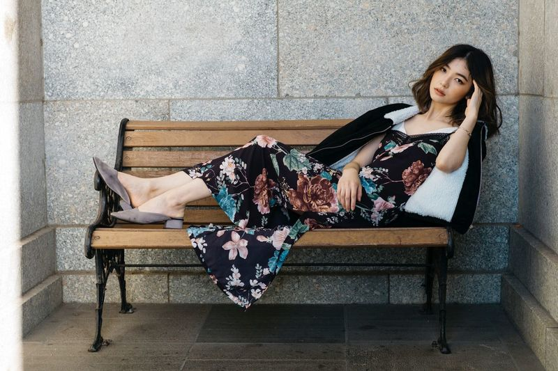 EyeEm Selects One Person Sitting Seat Full Length Young Women The Fashion Photographer - 2018 EyeEm Awards Women Young Adult Casual Clothing Relaxation Bench Adult Leisure Activity Beauty Fashion