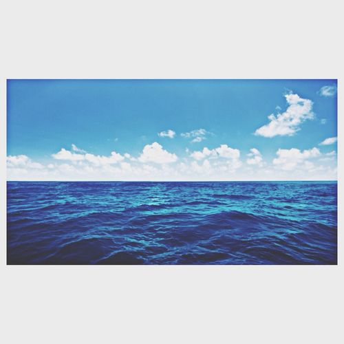 Sea And Sky Perfect Blue Sky Blue ?☀️