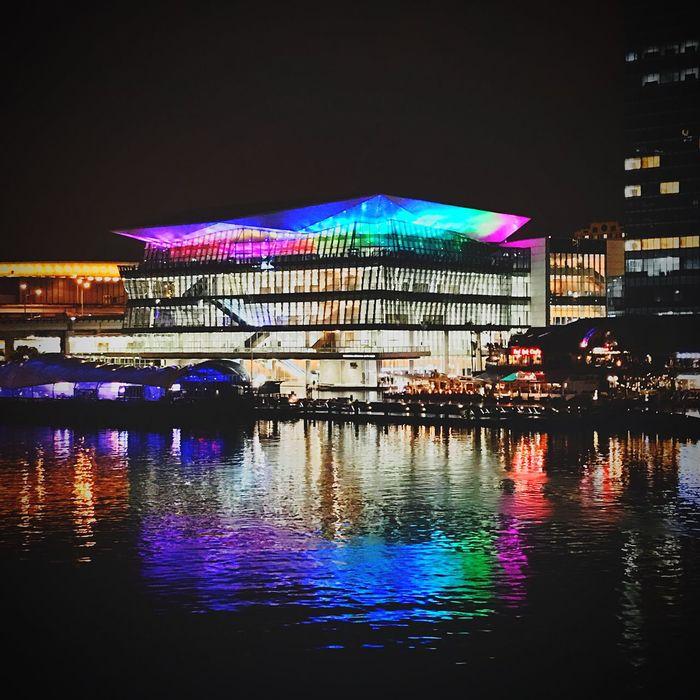 Night Illuminated Architecture Building Exterior City No People Man Made Structure Sydney, Australia