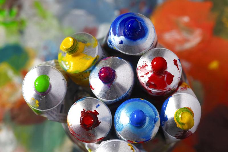 Farbtuben,Deutschland Farbtuben Art Close-up Day Farbenfroh Farbenspiel Kunst Malerei Multi Colored No People Variation
