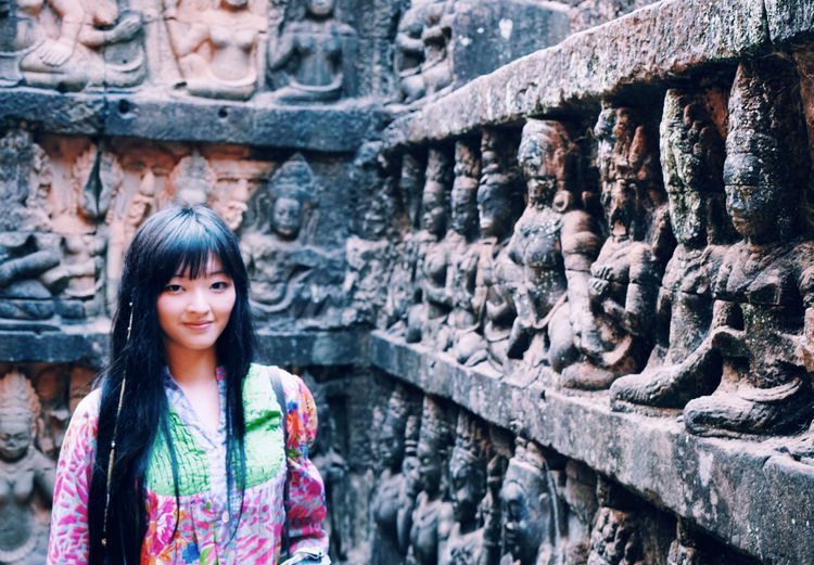 Starting A Trip Taking Photos Siemreap On A Holiday Angkor Wat People That's Me Portrait