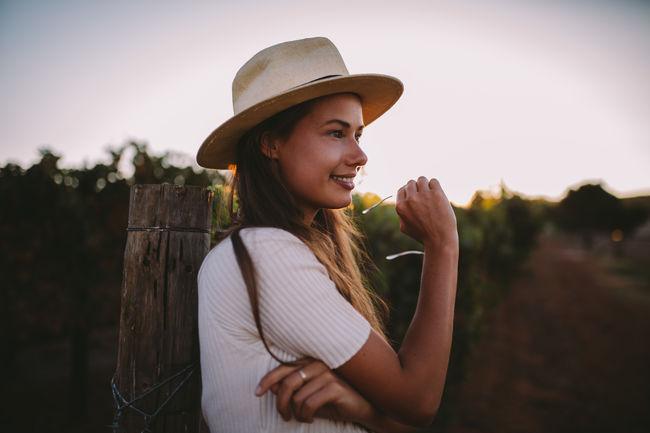 Woman Countryside Smile