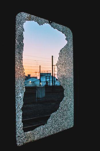 Broken Broken Glass Broken Window Evening Evening Light Evening Sky Exploration Exploring Nature Taking Over Old Sunset Train Train Station Urban Exploration Urbex Urbexphotography