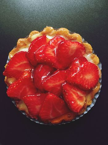 French Pastries Tartelette Strawberry Cake Strawberry Tart Food And Drink Red Food Freshness Close-up Indoors  Healthy Eating Fruit High Angle View Bowl Ready-to-eat Serving Size Indulgence Cooked Dish Vibrant Color