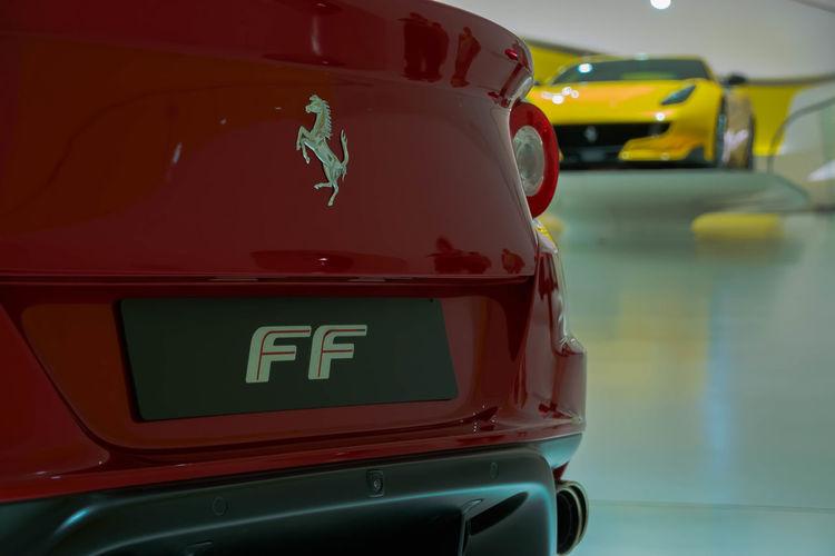 FERRARI F12 TDF Ferrari Ferrari F12 TDF Front Ferrari Ff Ferrari FF Rear Ferrari F12 Museo Enzo Ferrari Museum Enzo Ferrari Red Yellow