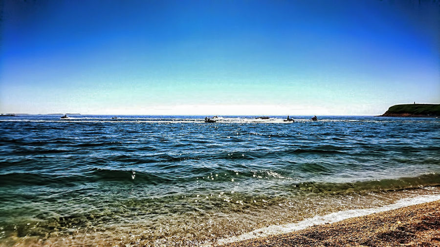 Beach Beauty In Nature Day Horizon Over Water Idyllic Nature No People Outdoors Rippled Scenics Sea Sky Sunlight Tranquil Scene Tranquility Water Wave