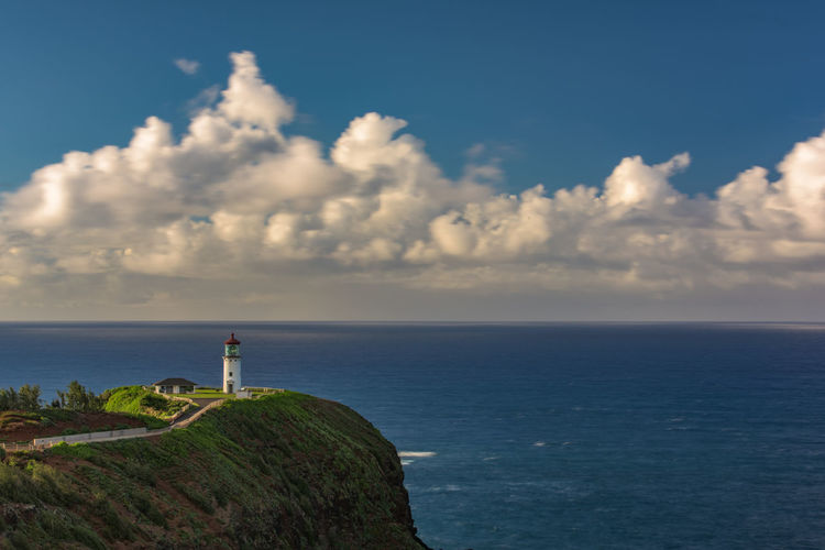 Copy Space Hawaii Kauai Lost In The Landscape Nature Pacific Twilight USA Beauty In Nature Cloud - Sky Day Guidance High Angle View Horizon Over Water Kilauea Lighthouse Lighthouse Nature No People Outdoors Scenics Sea Sky Tranquil Scene Tranquility Water