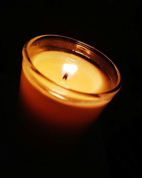 Black Background Illuminated Flame Studio Shot Heat - Temperature Burning Candle Close-up