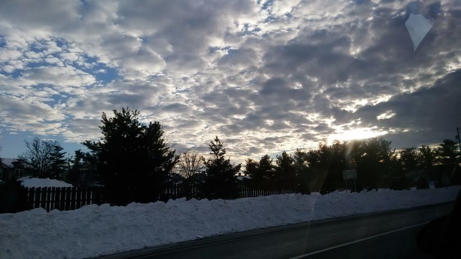 winter clouds