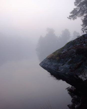 Foggy days by the lake Fog Over Water Foggy Morning Calmwater Stockholm Archipelago Just Around The Corner