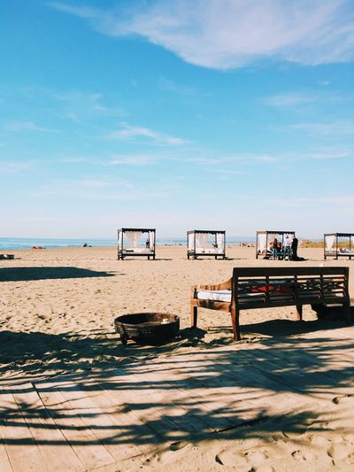 State of mind Beach Sand Sky Sea Shore Outdoors Water Nature Day No People Horizon Over Water Scenics Cloud - Sky Beauty In Nature Lifeguard Hut VSCO Vscocam Vscogood