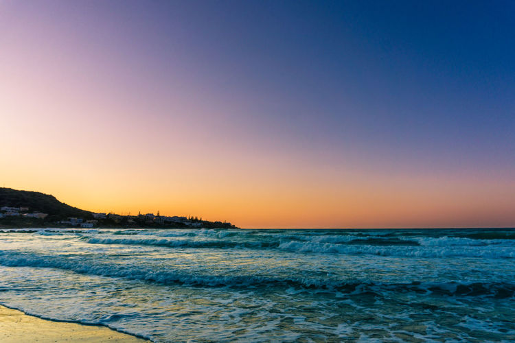 Beach Beauty In Nature Blue Clear Sky Day Horizon Over Water Nature No People Outdoors Scenics Sea Sky Sunset Tranquil Scene Tranquility Water Wave