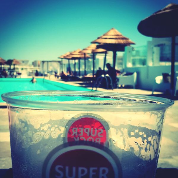 Faro Food And Drink Outdoors Summer Tranquil Scene Vacations Food Sky Beer Super Bock Beer Time Beers Beer Glass Beer O'clock Swimming Pool Eva Rooftop Sun Good Times Happy Days Connected By Travel Second Acts