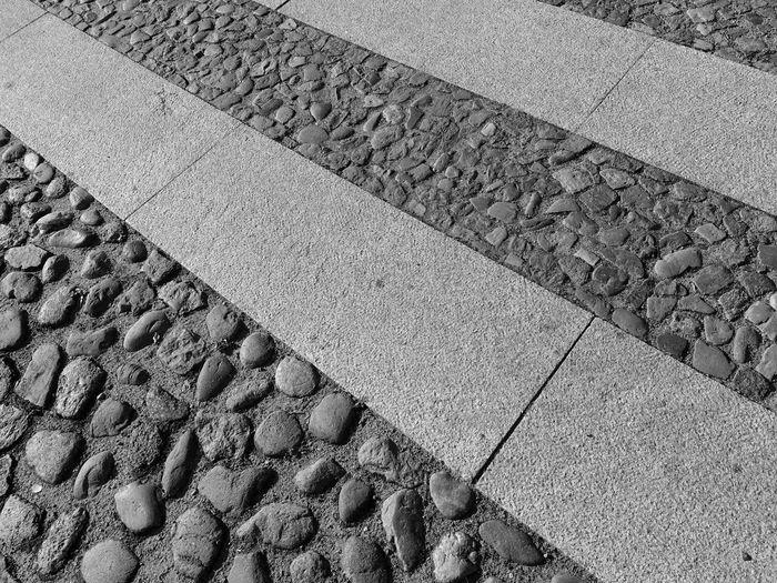 Backgrounds of pebble walkway
