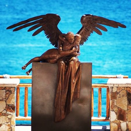 Los Cabos Mexico Angel Sea Blue Love Sculpture Escultura Art Vacation