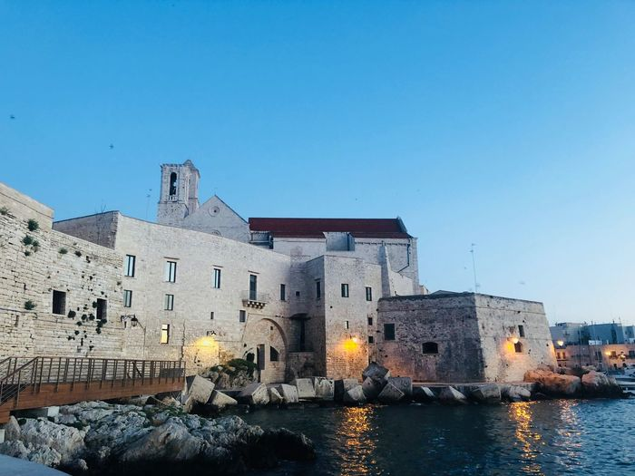 Giovinazzo Giovinazzo Architecture Built Structure Architecture Building Exterior Sky Water Copy Space Building Clear Sky Nature Day History Blue Waterfront City No People The Past River Old Outdoors