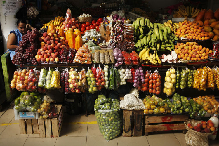 Cuenca, Ecuador Ecuador Cuenca Food And Drink Food Choice Healthy Eating Variation Freshness Fruit Retail  Wellbeing Market Abundance Large Group Of Objects Market Stall For Sale Vegetable Container No People Collection Multi Colored Arrangement Sale Retail Display Orange Street Market