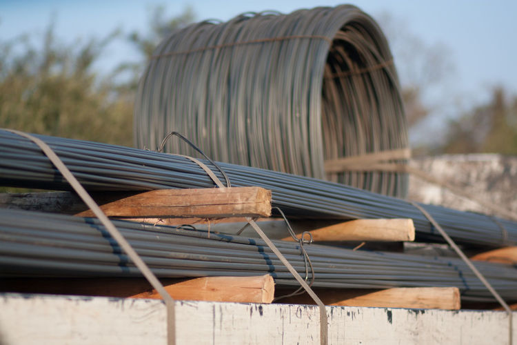 Metal Rods At A Construction Site