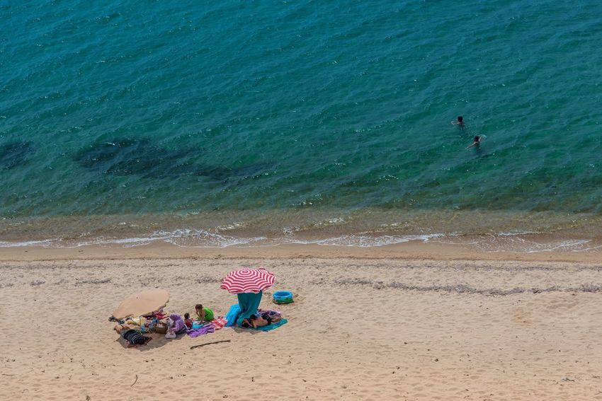 Aegean Sea Lonely Beach Enez Beach Sand Water Sea Vacations Day High Angle View Lifestyles Summer