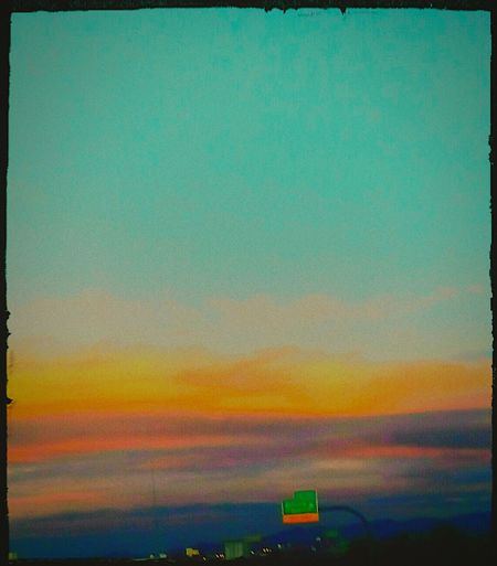 Sunset Scenics Sky Journey Tranquility Cloud - Sky Vibrant Color Outdoors Beauty In Nature Nature Traffic Hwy Multi Colored Beautiful Sky Edit Editjunky
