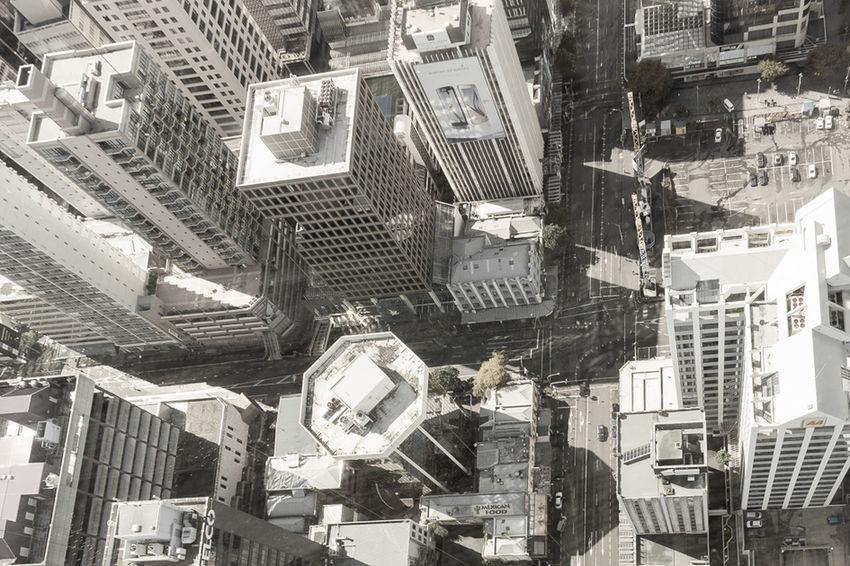 Urban Skyline New Zealand City Cityscapes Auckland Architecture Blackandwhite Shades Of Grey
